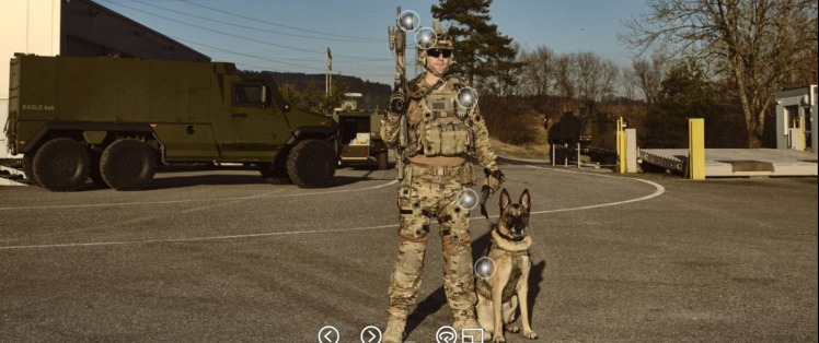 Virtual Reality Tours soldier dog