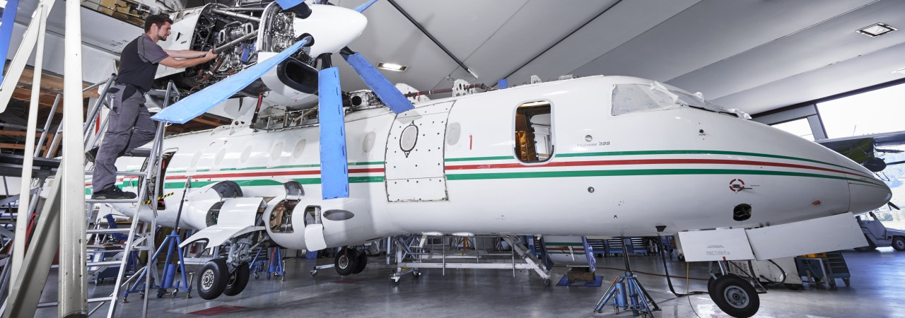 Dornier 328 Phase 4 and 6 inspection at RUAG Bern