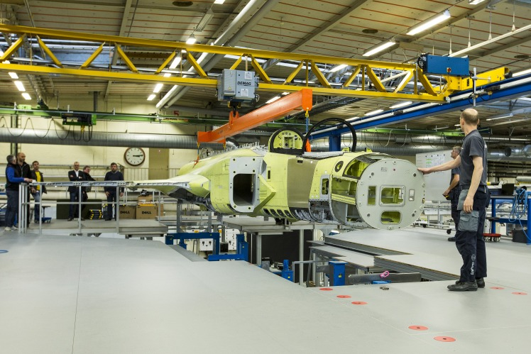 Assembling of Saab Gripen