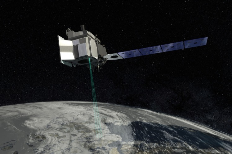 As the leading space supplier, RUAG Space produced navigation receivers and payload adapter for NASA's satellite ICESat-2. Copyright: NASA.